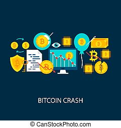 Bitcoin Crash Vector Concept