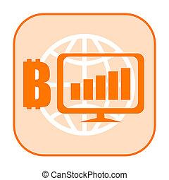 bitcoin, croissance, icône