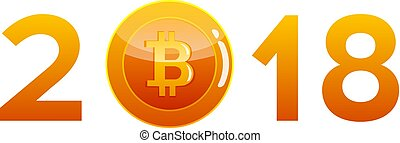 Bitcoin cryptocurrency coin, icon of virtual currency.