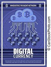 Bitcoin cryptocurrency digital blockchain network