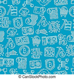 Bitcoin cryptocurrency digital pattern background