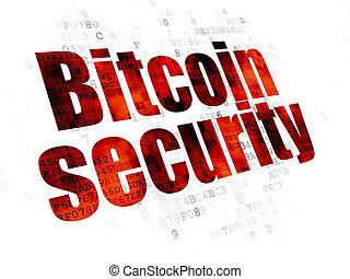 bitcoin, cryptocurrency, fond, numérique, sécurité, concept: