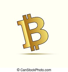 bitcoin cryptocurrency icon isolated on a white background