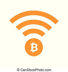 bitcoin cryptocurrency online symbol isolated on a white background
