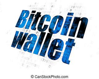 bitcoin, cryptocurrency, portefeuille, fond, numérique, concept:
