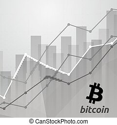 bitcoin cryptocurrency statistics chart showing various ...
