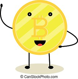 Bitcoin cryptocurrency symbol coin