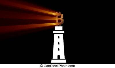 Bitcoin cryptocurrency. Animation bitcoin. BTC Virtual...