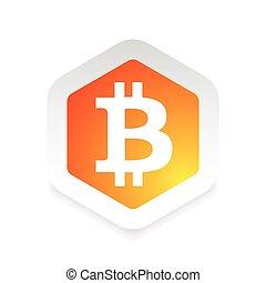 bitcoin digital logo