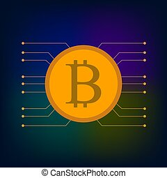 Bitcoin digital money crypto background