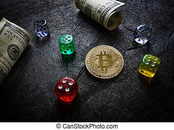 Dobbelsteen, Verantwoordelijkheid, Bitcoin