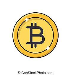 bitcoin flat color icon