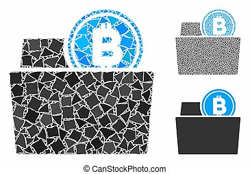 Bitcoin folder Mosaic Icon of Tremulant Elements