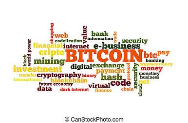 bitcoin, glose, sky