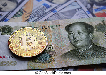 Bitcoin Gold Coin on Chinese Yuan and US dollar.