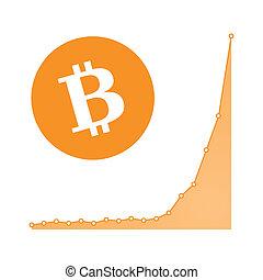 Bitcoin graph concept - Illustration of a bitcoin chart ...