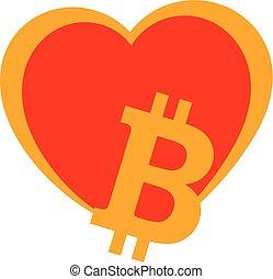 Bitcoin heart - Bitcoin lovers