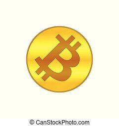 bitcoin icon gold, cryptocurrency bitcoin coin gold symbol, logo bitcoin coin gold color, bitcoin golden coin isolated on white background