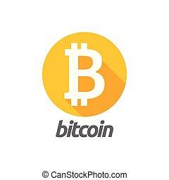 Bitcoin icon graphic design template vector
