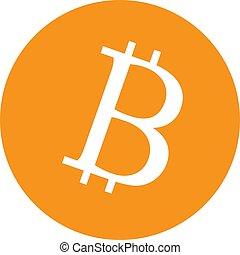 bitcoin icon on white background. bitcoin sign.