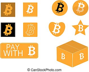 Bitcoin icon set best for developers and designers.