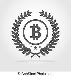 Bitcoin icon. Vector illustration