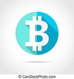 Bitcoin icon. Vector illustration.