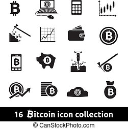 bitcoin icons - 16 bitcoin icon collection