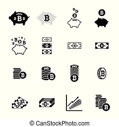 Bitcoin icons collection