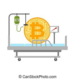 Bitcoin in hospital bed treatment. BTC price rising....