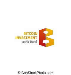 Bitcoin investment vector emblem