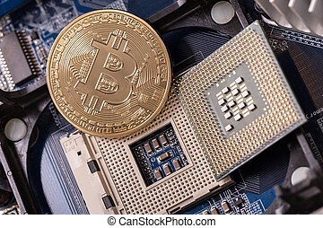 Bitcoin is a coin, on the processor socket. Crypto currency.