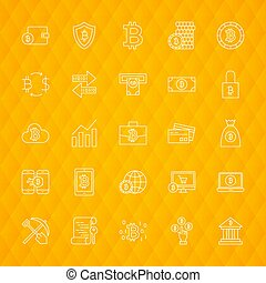 Bitcoin Line Icons
