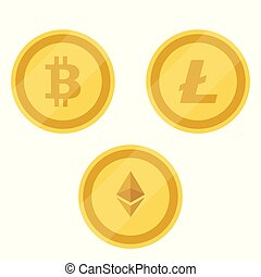 Bitcoin, Litecoin, Ethereum - Bitcoin, Litecoin and Ethereum...