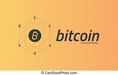 Bitcoin Logo And Signs Of Other Currencies With Exchange Lines Editable Eps10 Vector Transparent