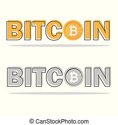 Bitcoin blackboard. Detailed illustration of a