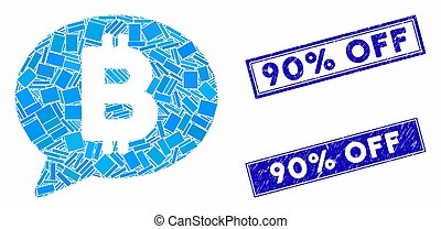 Bitcoin Message Mosaic and Distress Rectangle Watermarks