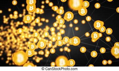 bitcoin mining background - bitcoin mining, slow moving...
