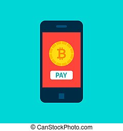 Bitcoin Mobile Pay Concept