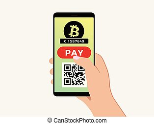 Bitcoin mobile payment concept