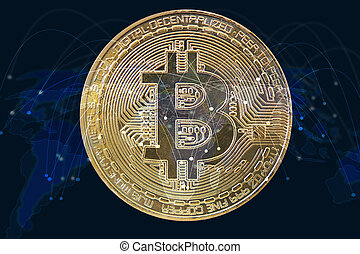 bitcoin., monnaie, crypto