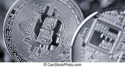 bitcoin, monnaie, cryptocurrency, et, blockchain, concept
