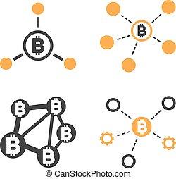 Bitcoin Network Vector Icon Set - Bitcoin Network vector...