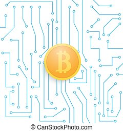 Bitcoin on the motherboard.