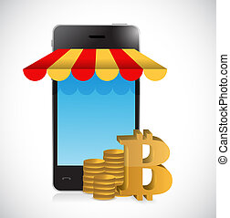 bitcoin online mobile shopping store