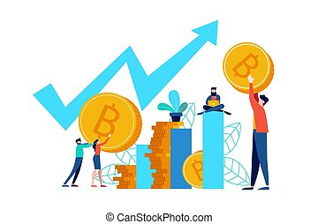 Bitcoin online stock market concept for business