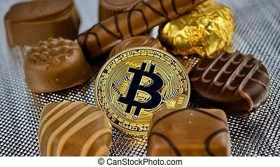 bitcoin, or, chocolat
