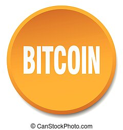 bitcoin orange round flat isolated push button