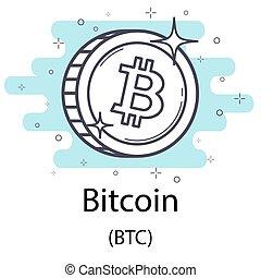 Bitcoin outline coin