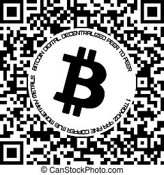 Bitcoin. Physical bit coin. Digital currency. Cryptocurrency. Coin with bitcoin symbol isolated on white background. Vector illustration.